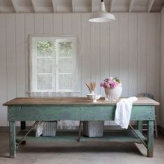 Rachel Ashwell Shabby Chic Couture - Green Work Table by DaisyCombridge