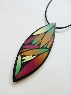 Polymer Clay Pendant by Carina's Photos and Polymer Clay, via Flickr