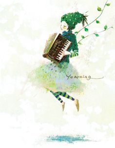 I don't play the accordion and I don't know anything about watercolor painting, but Ireally like this picture.