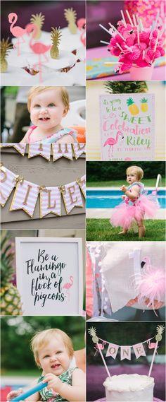 Flamingo first birthday party #flamingo flamingle