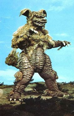 King Caesar, a Japanese kaiju (movie monster) that resembles a lhasa apso