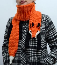 Crochet Fox Scarf by novelopt on Etsy, €25.00