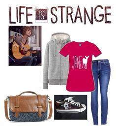 """""""Life is strange Max"""" by burningwaterfall ❤ liked on Polyvore featuring Uniqlo, 2LUV, HVBAO and Sole Society"""