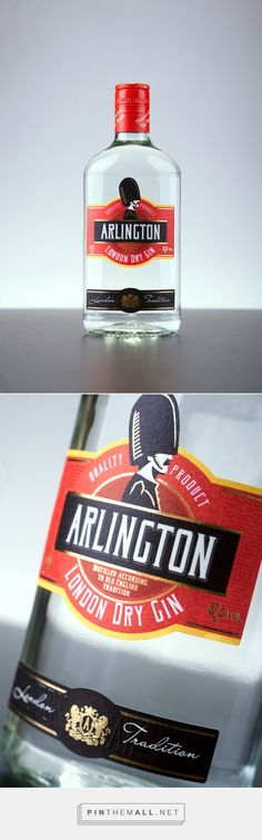 Arlington Gin label packaging design / Дизайн джина on Behance curated by Packaging Diva PD. Very nice detail work PD