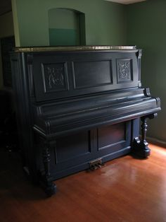 navy blue painted piano