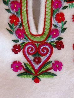 Embroidery motif on the trousers: folk costume from Jurgów (Spisz region), Poland.