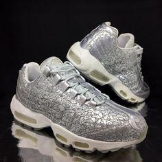half off d66ec ebfca NIKE Mens Air Max 95 Trainers Silver sz 9.5 Runnng Sneakers EU 44.5 US 10.5  Rare