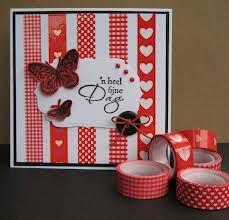washi tape kaarten - Google zoeken Tapas, Paper Cards, Diy Cards, Craft Cards, Mothers Day Cards, Valentine Day Cards, Washi Tape Cards, Washi Tapes, Scotch