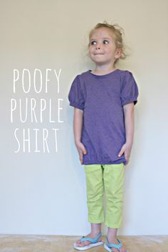 the red kitchen: KCW Day 1: Poofy Purple Shirt