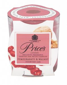 Prices Candles Scented Jar Pomegranate & Walnut
