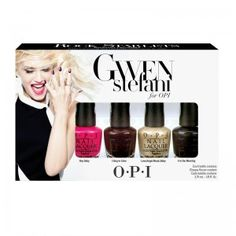 Coffret contenant 4 mini vernis de la collection Gwen Stefani - Hey Baby - I sing in color - Love angel Music baby - 4 in the morning