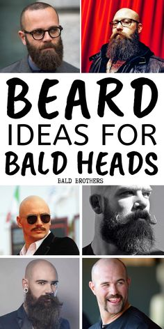 The best beard styles for bald men! If you are a bald man, then you need to grow any kind of beard! These beard styles are all pretty awesome! Types Of Beard Styles, Viking Beard Styles, Faded Beard Styles, Medium Beard Styles, Best Beard Styles, Long Beard Styles, Hair And Beard Styles, Different Styles Of Beards, Bald Men Styles