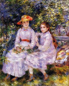 Painting Title: The Daughters of Paul Durand-Ruel, 1882 | Artist: Pierre-Auguste Renoir (1841-1919).