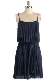 Clock Strikes Farewell Dress   Mod Retro Vintage Dresses   ModCloth.com - Simple, pleated, almost shear (looks like it's lined...Hopefully) -