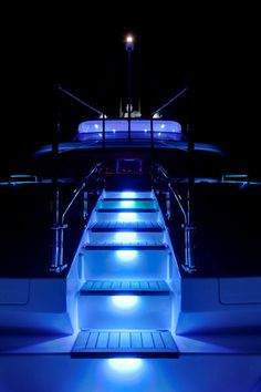 Step aboard... Yacht - beautiful leds - www.lumasea.com if you want this effect!