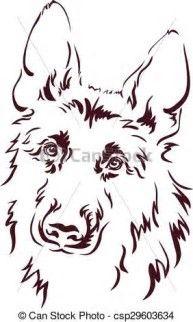 Bildergebnis für german shepherd line drawing - Wolf Zeichnungen - Tattoo German Shepherd Painting, German Shepherd Tattoo, German Shepherd Dogs, German Shepherds, Animal Drawings, Art Drawings, Dog Stencil, Stencils, Wolf Eyes
