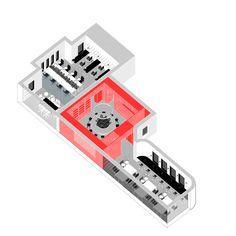 #architecture #axonometric #coworkingspace #urbanzoo #interiordesign #aplusnoima Coworking Space, Grid, Usb Flash Drive, Collage, Urban, Architecture, Zoology, Cement, Arquitetura
