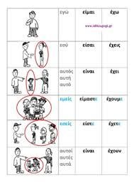 Image result for το ρημα ειμαι Greek Language, Speech And Language, Learn Greek, First Grade Activities, Teaching Methods, School Worksheets, Preschool At Home, Greek Words, Language Activities