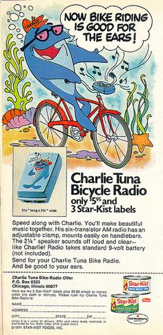 Vintage 'Sorry Charlie' Starkist Tuna Ad, 1974