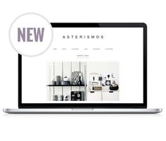 Responsive Wordpress Theme  Asterismo by LightMorangoShop on Etsy