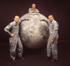 """""""We go to the moon"""" Apollo 11 astronauts Aldrin, Collins, and Armstrong"""