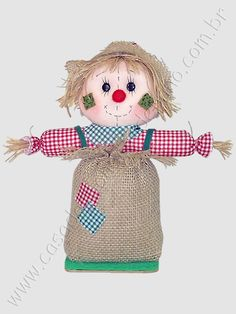 Fall Halloween, Halloween Crafts, Halloween Decorations, Scarecrows, Fall Crafts, Garden Ideas, Patches, Teddy Bear, Christmas Ornaments