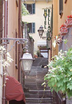Steps leading to hotel Italy Honeymoon, Lake Como, Adventure Travel, Places To Travel, Trip Advisor, Hotel Bellagio, Como Italy, Candid, Hotels
