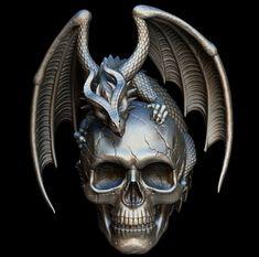 Skull And Bones, Coming Soon, Tattoo Drawings, Tattoos, Watercolor Art, Branding Design, Dragon, Pendants, Creative