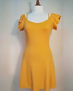 USED Vintage Mustard Woman Dress-Vintage Vestito Donna Senape Vintage Dresses, Pin Up, Vintage Fashion, High Neck Dress, Summer Dresses, Mustard, Etsy, Woman, Link
