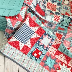 """""""Picnic quilt with a picnic basket #farmgirlvintage @beelori1"""""""