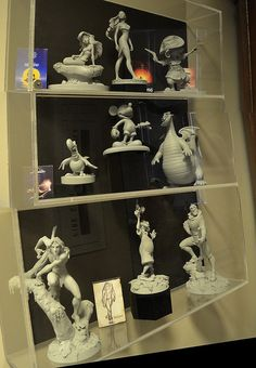Maquettes in the Disney Archives by Barry Wallis, via Flickr