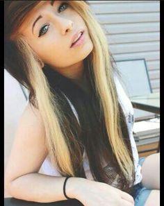Brown hair with blonde streaks