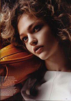 """The Shining"" Vogue UK, April 2006 Model: Sasha Pivovarova Photographer: Horst Diekgerdes"