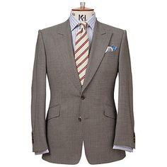 Buy Chester Barrie Savile Row Birdseye Suit, Grey Online at johnlewis.com
