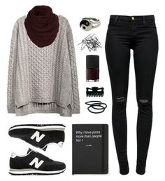 """""""October"""" by felytery ❤ liked on Polyvore featuring J Brand, H&M, NARS Cosmetics, Goody and New Balance"""