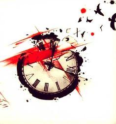 Trash Polka Clock Tattoo