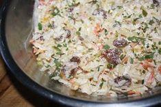 "Surówka "" Marokańska "" z kiszonej kapusty Tortellini, Pasta Salad, Potato Salad, Potatoes, Rice, Food And Drink, Ethnic Recipes, Cooking Ideas, Kitchen"
