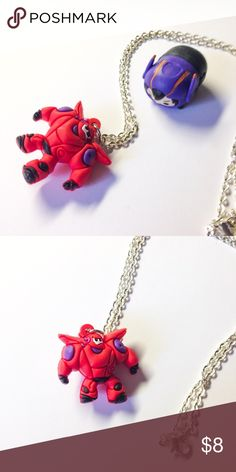 """🆕 Baymax Necklace - Big Hero 6 Handmade necklace finished with a Baymax charm. This is themed after Disney's Big Hero 6.  We offer 15% off on all bundles. You can """"Add to Bundle"""" to get discount.  Most items listed are ready to ship but if you need something sooner please let us know before ordering.  Thank you for shopping my closet! Magic Main Street Jewelry Necklaces"""