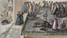 A portrayal of Mary Queen of Scot's execution from the era, by an unknown artist. The Trial and Execution of Mary Queen of Scots – F Yeah History Mary Queen Of Scots, Queen Mary, Uk History, Tudor History, British History, Family History, Scotland History, History Major, London History