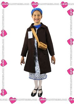 This Childs Evacuee Girl War Costume is typical of the World War 2 Era and comes in the form of a floral dress.This Evacuee Girl dress would be perfect to wear as 'Anne Frank' on World Book Day or ideal for any 40's Themed War Fancy Dress