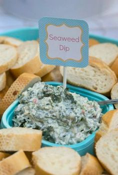21 MERMAID BIRTHDAY PARTY IDEAS FOR KIDS - Seaweed dip