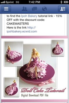 Gorgeous Barbie cake from Ipoh Bakery!!! I soooooo want to try my hand at one of these :)