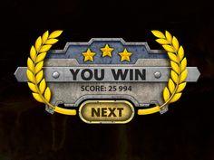 Base Defense 3D iOS Game | Win Screen