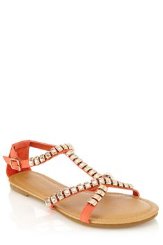 Stud Crossover Sandals