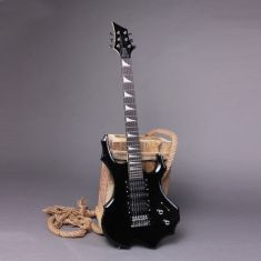 IRIN Flame Type Electric Guitar with Cable Strap Black