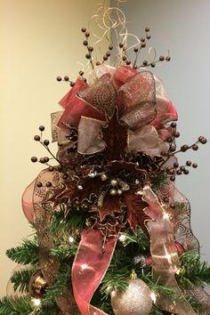 Homemade Christmas tree topper