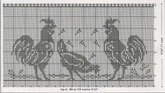 Flashup Just Cross Stitch, Cross Stitch Flowers, Cross Stitch Charts, Cross Stitch Embroidery, Crochet Curtains, Crochet Tablecloth, Crochet Doilies, Crochet Birds, Thread Crochet