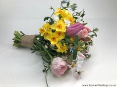 How to incorporate yellow flowers for a Spring Wedding #2021weddingtrend #weddingflowers #weddingflorist #springwedding #bridalflowers #colourof2021 #liverpoolflorist | Wedding Flowers Liverpool, Merseyside - Specialist Bridal Florist | Flower Delivery Liverpool - Same Day Delivery option | Florist Liverpool | Flower Tulip Wedding, Spring Wedding Flowers, Wedding Colors, Flowers In Jars, Bright Flowers, Yellow Flowers, Bridesmaid Flowers, Bride Bouquets, Flower Girl Wand