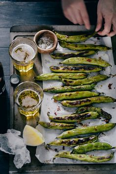 Grilled Fava Bean Pods with Chile and Lemon | Lisa C. Shen