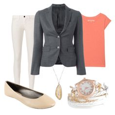 """""""Office Spring"""" by paixfish on Polyvore featuring J Brand, True Religion and Tagliatore"""